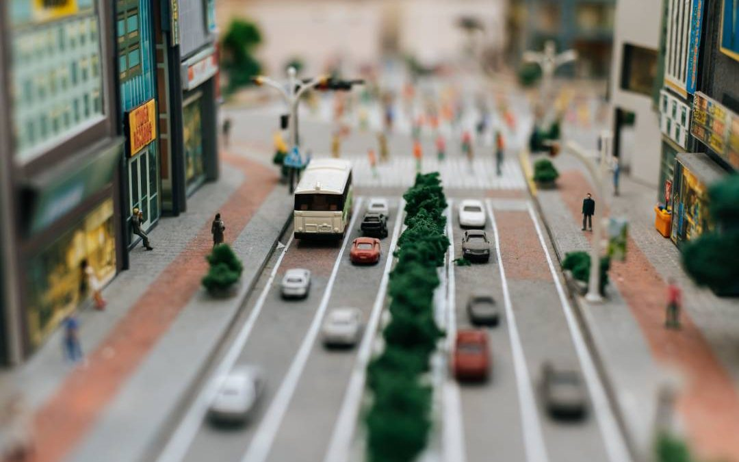 Miniatura di traffico in coda