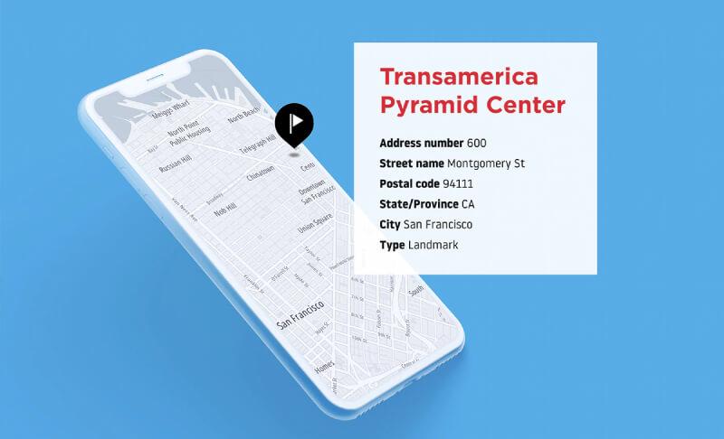 Smartphone con mappa