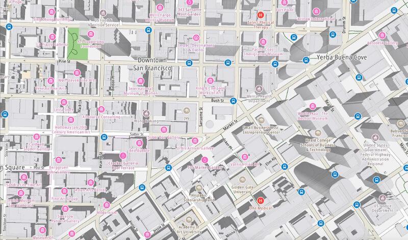 Mappa 3D città